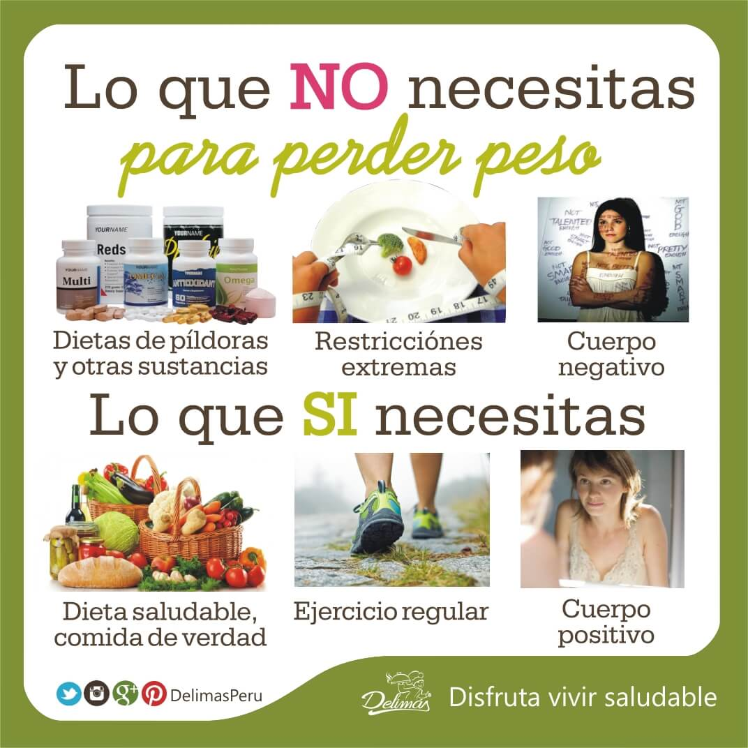 Como bajar de peso con dieta saludable en